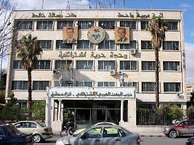 Unter Beschuss: Die zentrale der Baath-Partei in Damaskus.