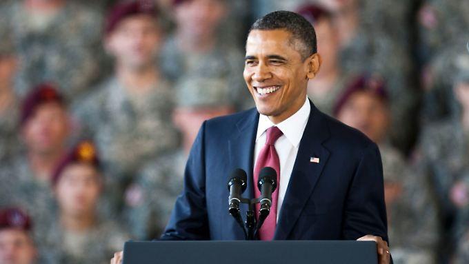 Obama in Fort Bragg.