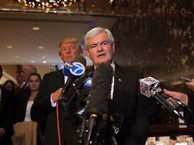 Newt Gingrich wollte zusammen mit Trump auftreten.