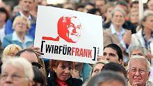 Die SPD hofft, im Endspurt noch etliche unentschlossene Wähler überzeugen zu können.