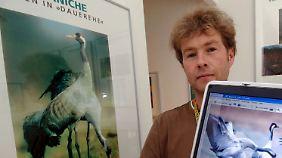 Günter Nowald, Chef des Kranich-Informationszentrums Groß Mohrdorf bei Stralsund.