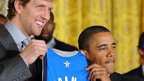 Dallas Mavericks im Weißen Haus: Obama witzelt mit Nowitzki