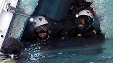 Wrack der Costa Concordia: Taucher durchsuchen Kabine für Kabine