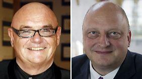 Eventmanager Schmidt (l.) und Ex-Sprecher Glaeseker müssen eine Reihe unangenehmer Fragen beantworten.