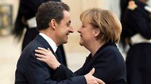 """Postkarte"" mit Merkel soll helfen: Sarkozy bastelt an Comeback"
