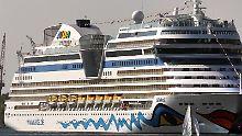 """Kreuzfahrtschiff """"AIDAsol"""": Die Reedereien Aida und Tui Cruises wollen künftig vor dem Auslaufen der Schiffe mit den Passagieren den Ernstfall üben."""
