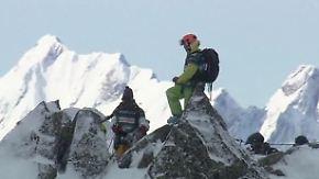 Freeriding auf dem Mont Blanc: Gipfelstürmer stürzen sich in die Tiefe