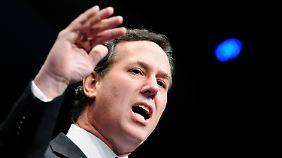 Ultrakonservativ und tief religiös: Santorum kämpft mit Gottes Hilfe