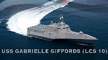 """Die """"USS Gabrielle Giffords"""" auf einer Grafik der US Navy."""