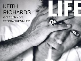 "Hörbuch-Cover der Autobiografie ""Life"" von Keith Richards."