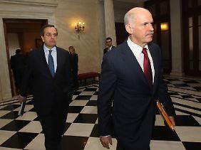 Kontraproduktiv: Antonis Samaras (links) und Giorgos Papandreou.