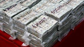 Die Drogen-Kartelle setzen gewaltige Summen um.