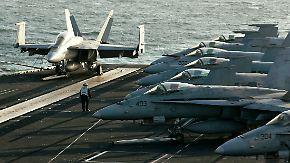 Einschüchterung oder Beruhigung?: US-Flugzeugträger vor Iran positioniert