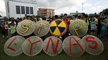 Breiter Protest gegen Lynas in Kuantan.
