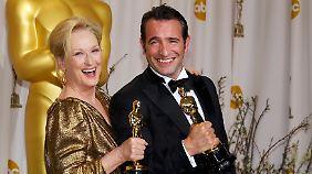 Beste Hauptdarsteller: Meryl Streep und Jean Dujardin.