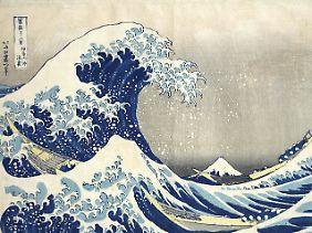 """Der Holzschnitt """"Unter der Woge vor der Küste von Kanagawa"""" des Künstlers Katsushika Hokusai gehört zu den besten Stücken, die gefunden wurden."""