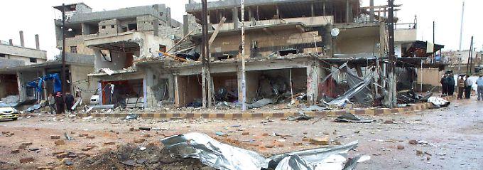 Ein zerstörtes Haus in Daraa.