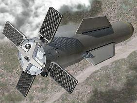 So stellt man sich das bei Boeing vor: Ein MOP auf dem Weg ins Ziel (Computeranimation).