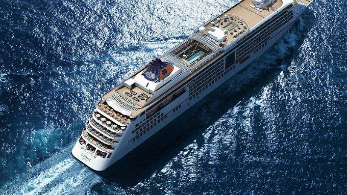 Drama auf dem Luxusschiff MS Europa 2 von Hapag-Lloyd Cruises.