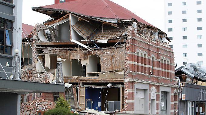 Ein vom Erdbeben beschädigtes Haus am in Christchurch in Neuseeland: Nie zuvor haben Naturkatastrophen so viele Schäden angerichtet wie im Jahr 2011.