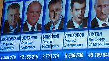 Irina Prochorowa stand zwar nicht zur Wahl - wurde aber trotzdem gewählt.