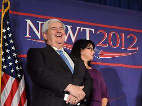 """Newt Gingrich setzt auf Rapmusik. Jugendliche aus Florida haben für ihn die Hymne """"Hoot for Newt"""" getextet."""