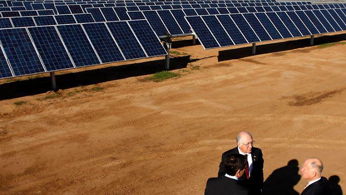 Eine Solaranlage in El Grove, Kalifornien. Unfaire Beihilfen für chinesische Produzenten sorgen seit Monaten für Gesprächsstoff.