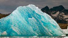Zwischen 2000 und 2008 verlor Grönland etwa 1500 Kubikkilometer an Eismasse.