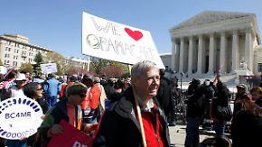Prestigeobjekt vor dem Supreme Court: Obamas Gesundheitsreform wankt