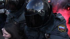 Nach der russischen Parlamentswahl im Dezember gingen viele Russen auf die Straßen.