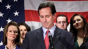 Duell Obama gegen Romney beginnt: Santorum gibt auf