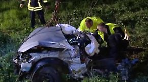 Drei Tote bei Unfall: Auto wird in zwei Teile zerrissen