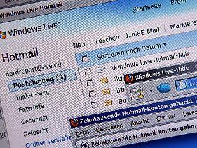 Die E-Mail-Konten von Kunden der Dienste Hotmail, Yahoo, AOL und Google Mail wurden in diesem Jahr ebenfalls gehackt.
