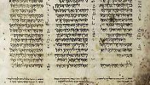 Der Aleppo Codex umfasst jetzt noch 295 Seiten. Ursprünglich waren es 487.