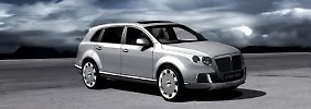 Konzeptionell erinnert der Wagen sehr an das von Bentley in Genf vorgestellte Luxus SUV EXP-9F.