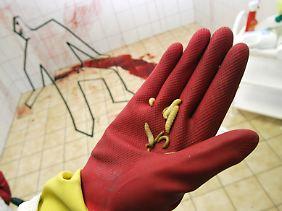 Unmittelbar nach dem Tod setzt die Verwesung ein, Mehlwürmer sind da das kleinste Problem.