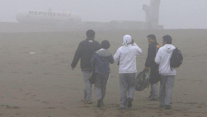 Dichter Nebel über einem Vorort Limas.