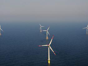 Windkraft hat den größten Anteil unter den erneuerbaren Energien.