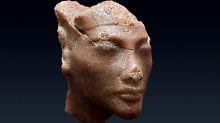 Die ägyptische Königin Nofretete als Quarzit-Kopf.