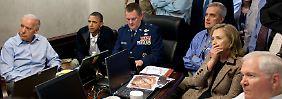 Den Tod von Osama Bin Laden sah Obama Live in einer Videoschalte.
