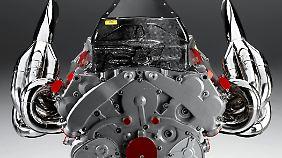 Auch zur Versteigerung steht ein echter Formel-1-Motor.