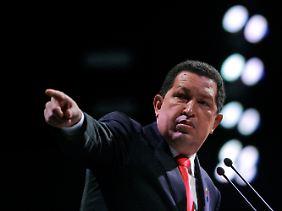 """Venezuelas Präsident Hugo Chávez nutzte die Klimakonferenz zu Attacken gegen die """"imperialistische"""" Weltordnung."""