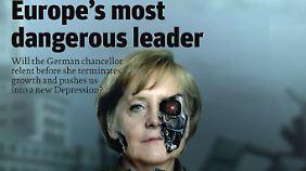 Umstritten ist Merkel vor allem im Ausland. In Deutschland sind einer Umfrage zufolge 75 Prozent der Menschen zufrieden mit ihr.