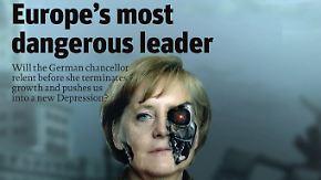 Auch vor dem Spiel gegen Griechenland: Merkel für viele eine Hassfigur