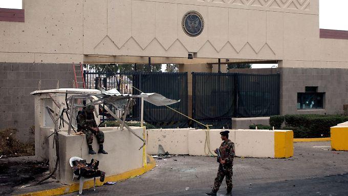 Die Tore der US-Botschaft in Sanaa bleiben vorerst geschlossen.