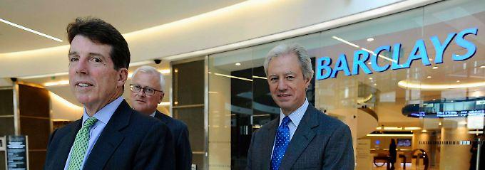Verantwortlich für das Handeln ihre Mitarbeiter: Bob Diamond (l.) und Verwaltungsratschef Marcus Agius (r.).