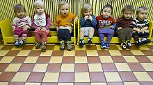 Kinder in der Kindertagesstätte Spatzenhaus im brandenburgischen Eisenhüttenstadt.