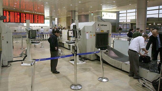 Sicherheitskontrolle auf dem Flughafen Ben Gurion in Tel Aviv.