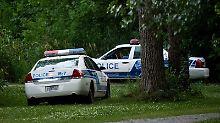 Bereits vor Tagen durchsuchte die Polizei den Park.