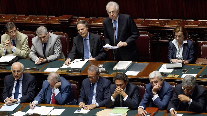 Mario Monti setzt seine Versprechen um.